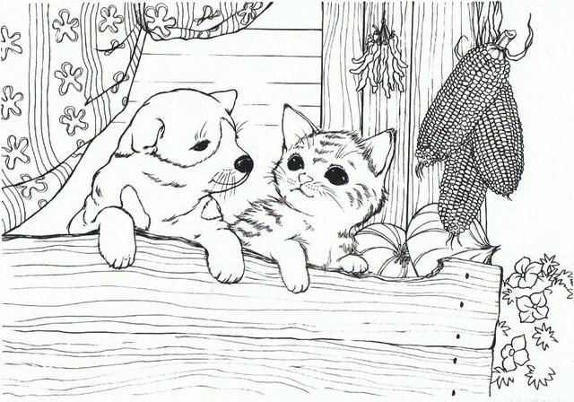 イヌとネコ 下絵.jpg